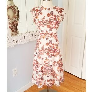 Line + Dot Floral Midi Dress from Revolve Sz M